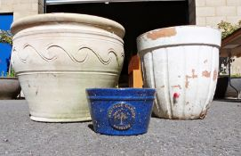 Two large garden planters