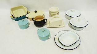 Sainsbury's storage jars, Portmeirion mini spice storage jars, white enamel cookware, S54's Mason'