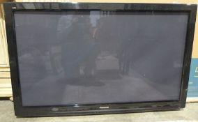 "Very large Panasonic flatscreen television, 55 inchin a Samsung television 55"" box"