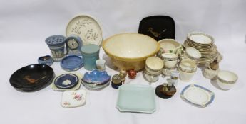 Five boxes of mixed ceramics and kitchenware to include T.G.Green mixing bowl, James Kent green