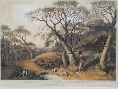 Colour printsafter Samuel Howitt Pheasant shooting, partridge shooting, woodcock shooting and