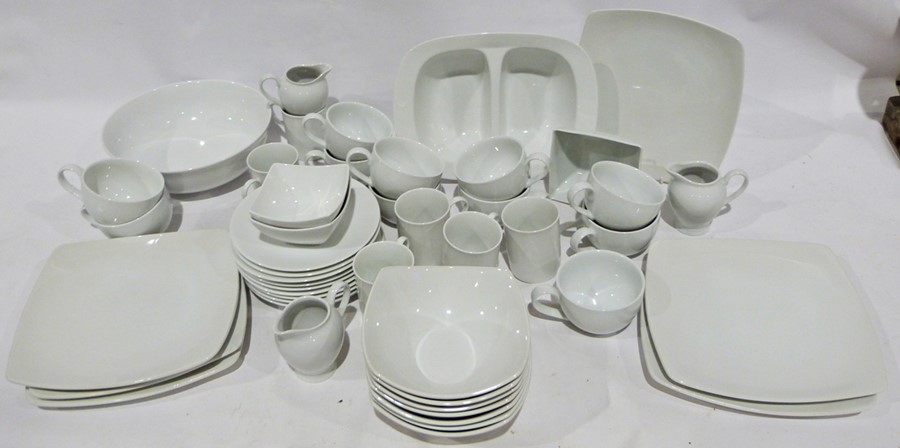 Seven boxes of assorted ceramics to include white M & S and Andante Square, ceramic mugs, - Image 6 of 7