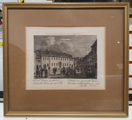 Assorted pictures and printsincluding a print of Surrey Cricket Ground, two engravings marked