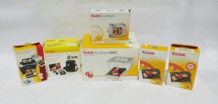 Kodak Easyshare zoom digital camera, a Kodak Easyshare printer dock, a Kodak digital camera
