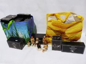 Collection of Old World Castagna figures, mainly native Americans (2 carriers bags) Condition