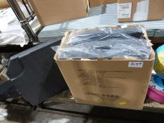 Box of hanging parasols weight set x 4 (unused in original plastic casing), a light-up globe, a