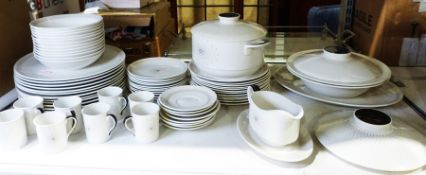 Royal Doulton 'Morning Star' part dinner service comprising 12 dinner plates, 12 bowls, 12 side