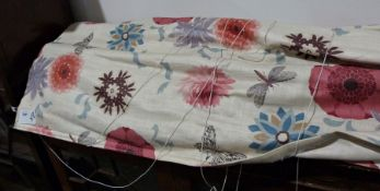 Two Roman blinds x 160cm, lined and interlined, and one other of 100cm in width,(length not