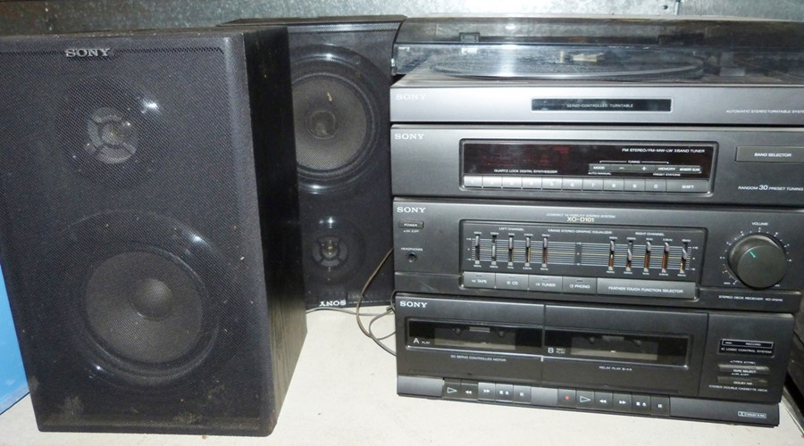 Sony music centre to include record deck and speakers - Image 2 of 2