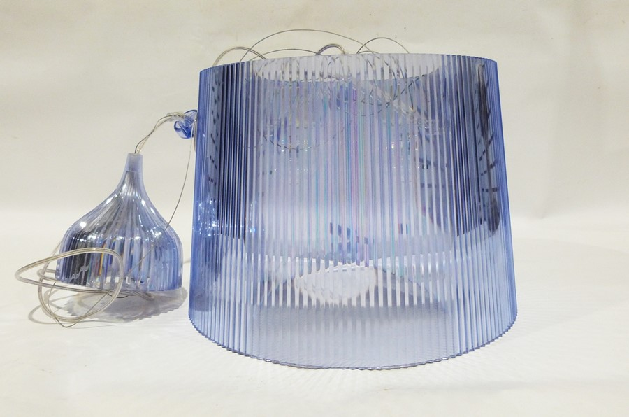 Kartell pale blue transparent plastic ceiling light, designed by F.Laviani Condition ReportAppears - Image 2 of 2