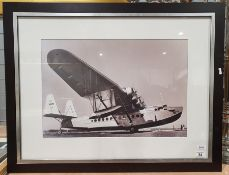 Photographic print of a seaplane, black and white, unsigned
