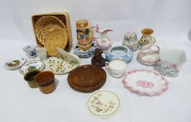 Part tea service Evesham style, a Wedgwood Wild Strawberry vase, assorted ceramics, an Aynsley