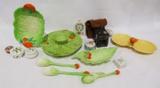 Midwinter Carltonware-style dish and hors d'oeuvres dish, a Royal Collection fine bone china trinket