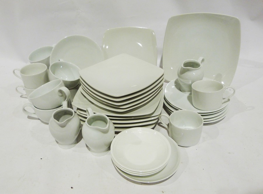 Seven boxes of assorted ceramics to include white M & S and Andante Square, ceramic mugs, - Image 5 of 7