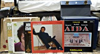 Large collection of long-playing records to include Robert Palmer, Top of the Pops, Kenny Rogers,
