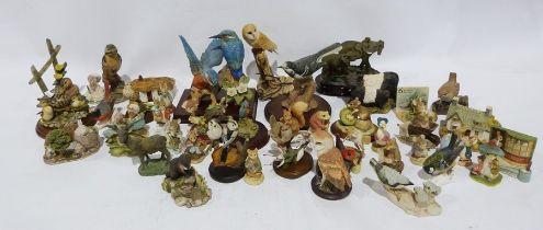 Quantity of resin and ceramic models of birds and animalsto include Leonardo, World of Beatrix