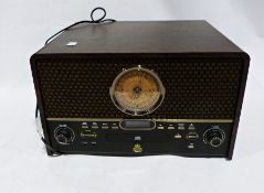Vintage style compact disc player with radio and USB turntable, with Insignia GPO