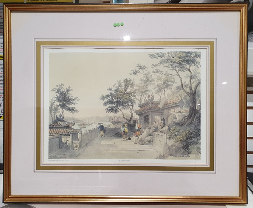 After Porget Lithograph scene of Hong Kong together with twofurther (3) - Image 4 of 4