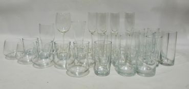 Four boxes of assorted glasswareto include tumblers, wines, champagne flutes, brandy balloons,