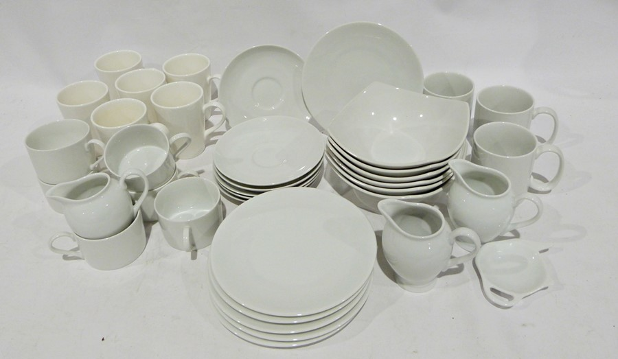 Seven boxes of assorted ceramics to include white M & S and Andante Square, ceramic mugs, - Image 4 of 7