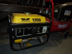 Wolf Power 1200 generator and a Nu-Tool Air Compressor, 7 amps, on wheels