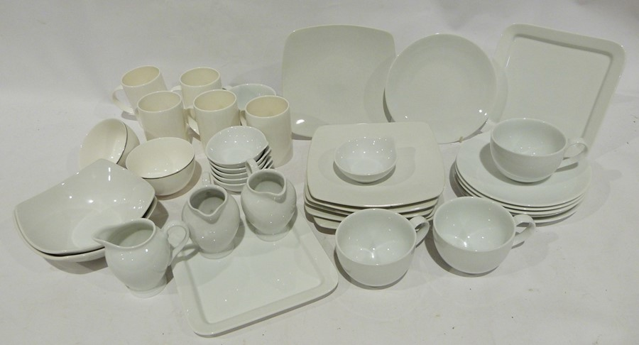 Seven boxes of assorted ceramics to include white M & S and Andante Square, ceramic mugs, - Image 2 of 7