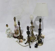 Seven assorted table lamps (1 box)