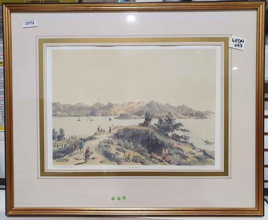 After Porget Lithograph scene of Hong Kong together with twofurther (3) - Image 2 of 4