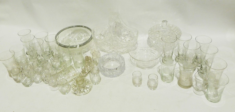 Assorted cut glass to include rose bowls, a flower basket, ashtray, assorted ceramics to include a - Image 2 of 2