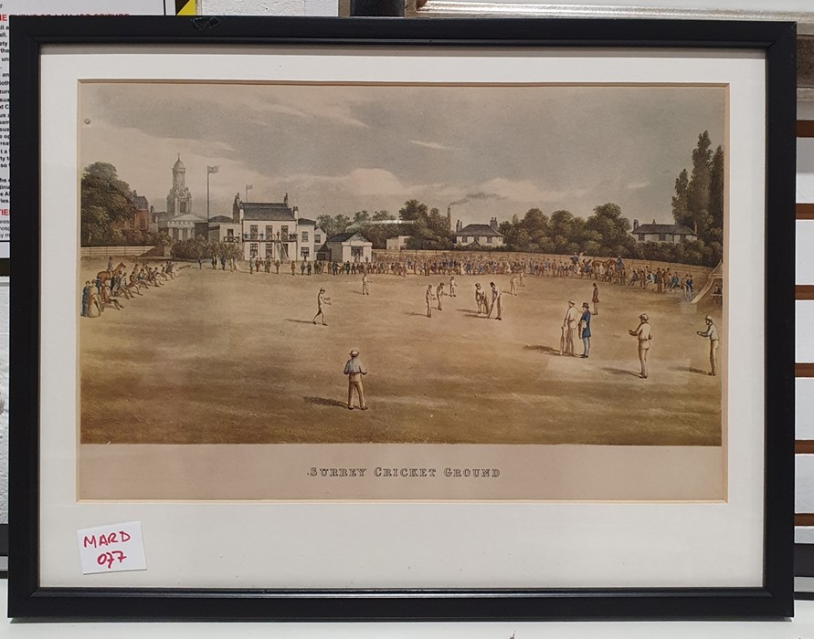 Assorted pictures and printsincluding a print of Surrey Cricket Ground, two engravings marked - Image 4 of 7