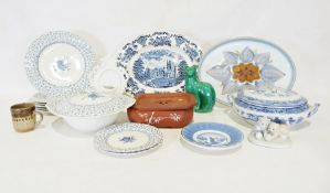 Two boxes of various decorative and household ceramicsto include a Yixing Chinese terracotta tea
