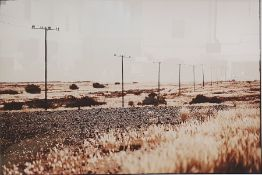 Photographic print titled 'Country Road' and signed indistinctly in pencil 'Martin(?)', 48cm x 70cm