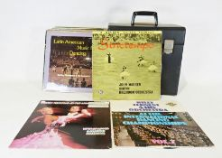 Quantity of LP records, mainly classical and some big band records