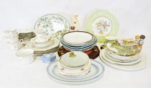 Two boxes of assorted china and glasswareto include Johnson Bros 'Sonata', Alfred Meakin collectors