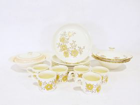 Two boxes of assorted ceramics and glassto include Grindley and Midwinters, various pewter items,