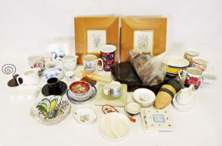 Four boxes of various china and glass items to include a pair of J&G Meakin 'Poppy' pattern lidded