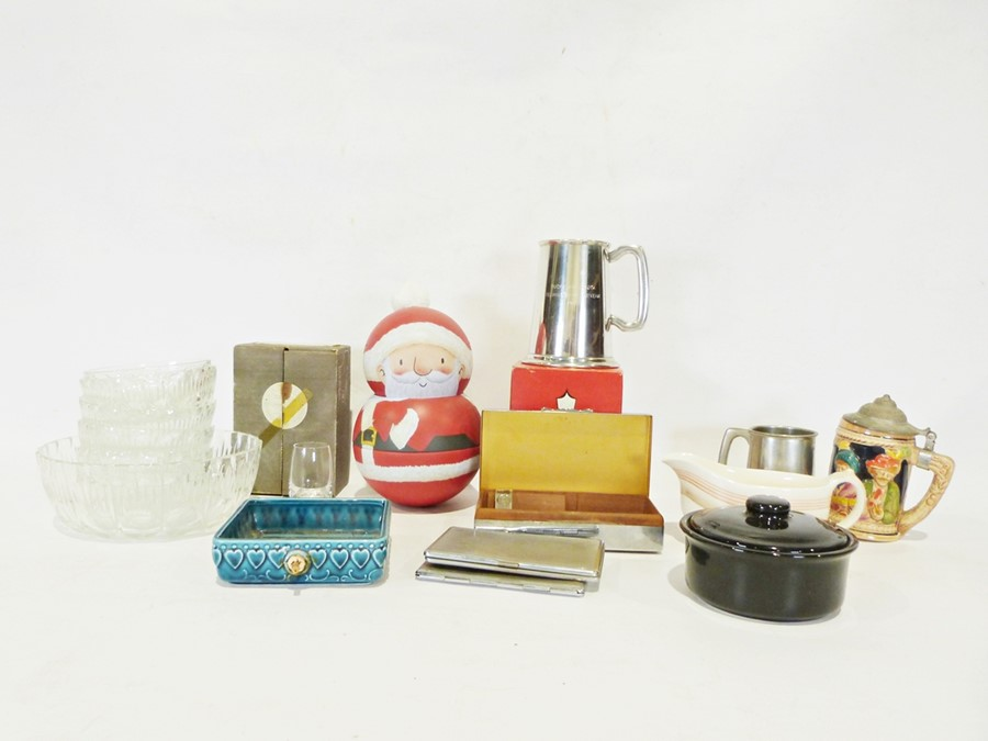 Two boxes of assorted ceramics and glassto include Grindley and Midwinters, various pewter items, - Image 2 of 2
