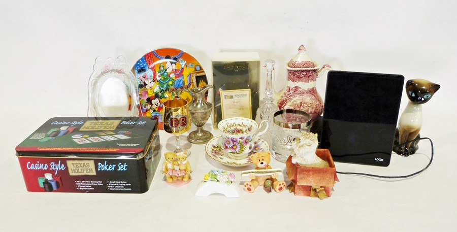 Two boxes of various china itemsto include a modern Japanese part tea service, a Merrythought teddy - Image 2 of 2