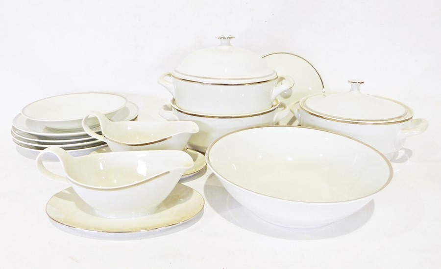 Three boxes of assorted china items to include a Myott part coffee service and Karlsbad - Image 3 of 3