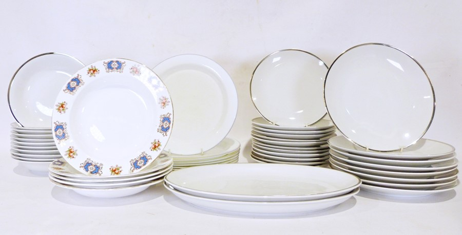 Three boxes of assorted china items to include a Myott part coffee service and Karlsbad - Image 2 of 3