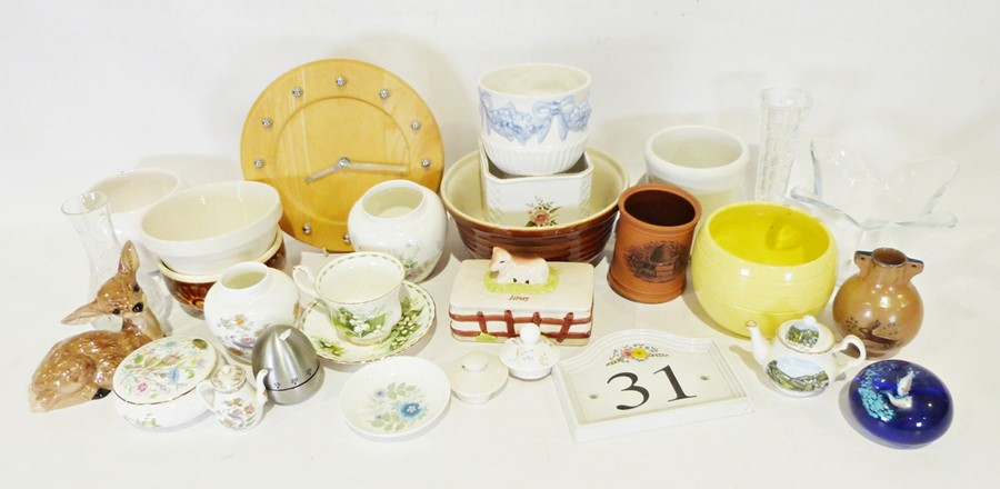 Four boxes of assorted china and glasswareto include Aynsley 'Wild Tudor' vase, Jersey pottery - Image 5 of 5