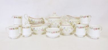 Two boxes of assorted china and glass items to include eight Paragon 'Belinda' tea cups and assorted