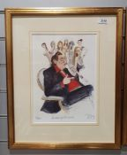 Four limited edition humorousprints, titled, numbered and signed indistinctly in pencil, all framed