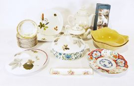Box of assorted china including Royal Doulton, Royal Worcester, Midwinter, etc