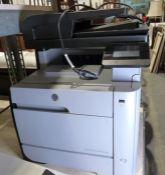 Hewlett Packard colour laserjet pro MFPM476DW printer
