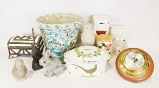 """Two boxes of assorted china and glassware to include Royal Worcester """"Bacchanal"""" part dinner"""
