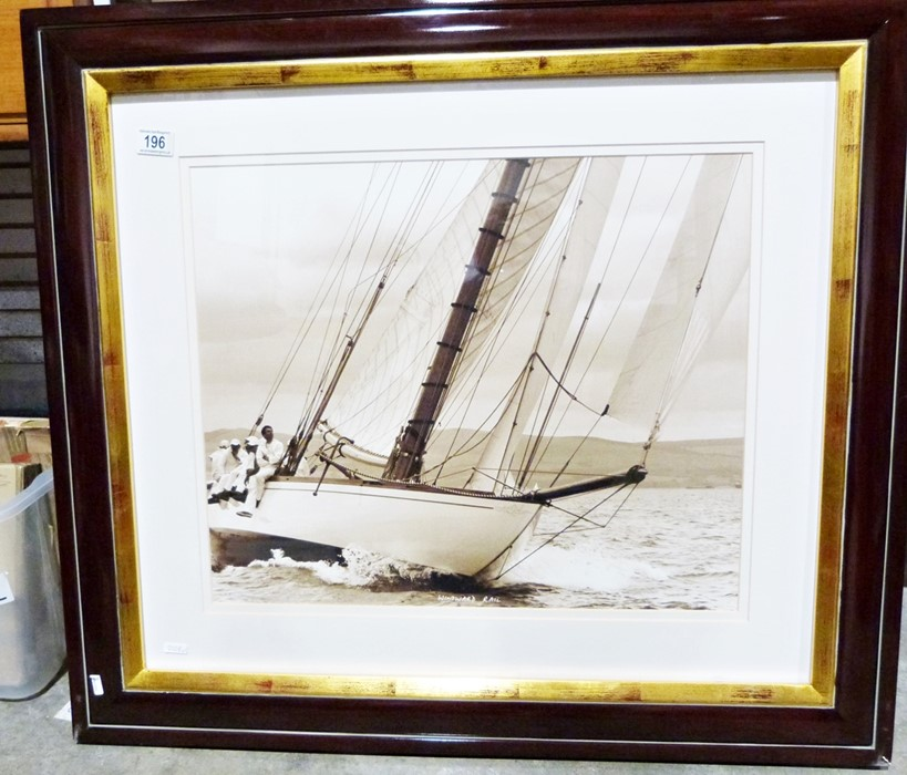 """Two framed and glazed photograph printsof yachting scenes, titled """"Ready About"""" and """"Windward - Image 2 of 2"""