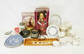 Three boxes of assorted china and household itemsto include a Royal Albert 'Memory Lane' part