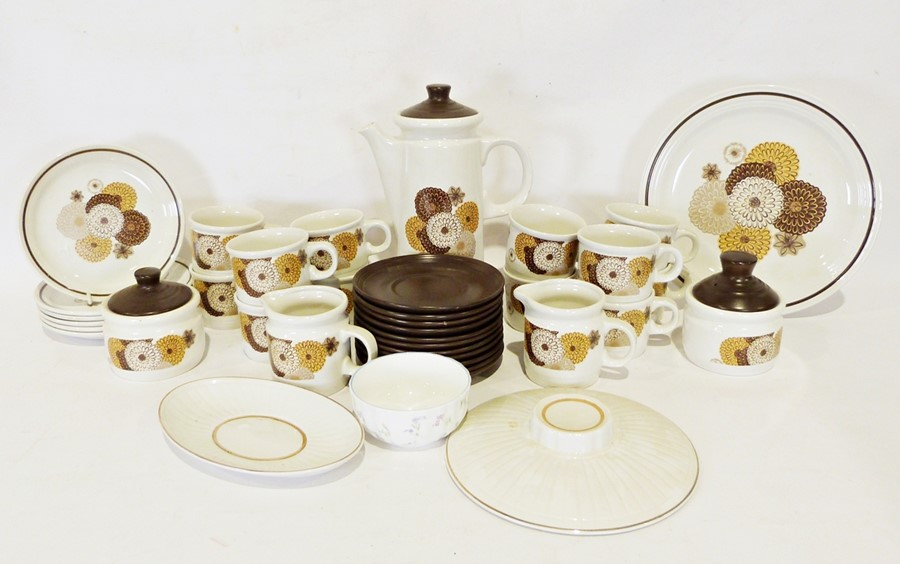 Three boxes of assorted china items to include a Myott part coffee service and Karlsbad
