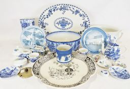 Quantity of various blue and white china